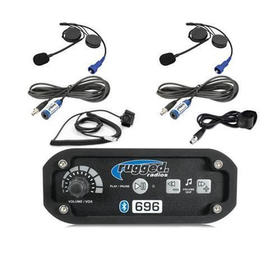 Rugged Radios RRP696 2-Place Intercom System with Alpha Audio Helmet Kits 696-2P-HK