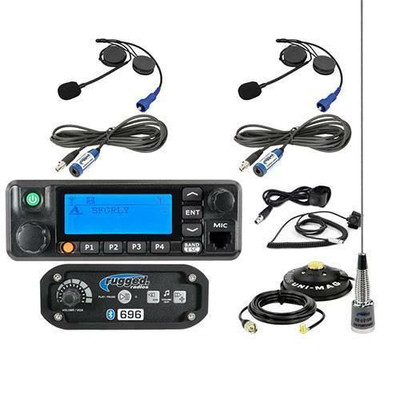 Rugged Radios RRP696 2-Place Intercom with Digital Mobile Radio and Alpha Audio Helmet Kit 696-2P-HK-RDM