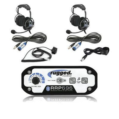 Rugged Radios RRP696 2-Place Intercom with OTU Headsets 696-2P-OTU