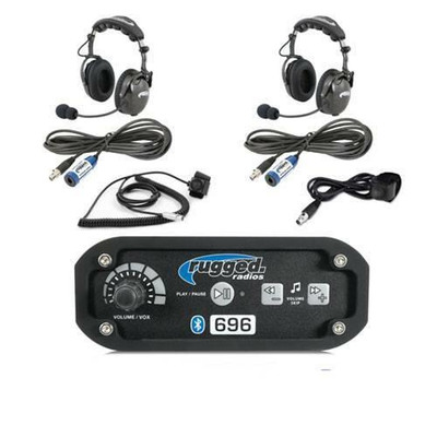 Rugged Radios RRP696 2-Place Intercom with AlphaBass Headsets 696-2P-H28
