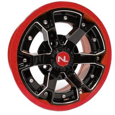 No Limit 15x7 DEUCE UTV Wheels Matte Black/Red No Limit 3471