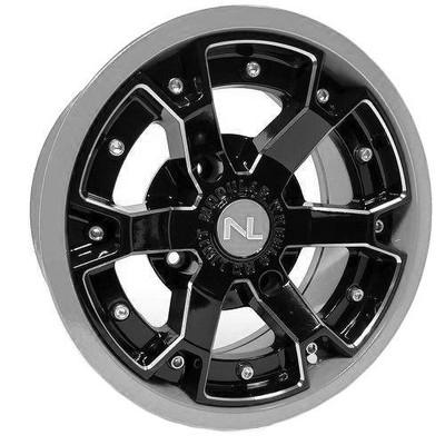 No Limit 14x7 DEUCE UTV Wheels Matte Black/Silver No Limit 3472