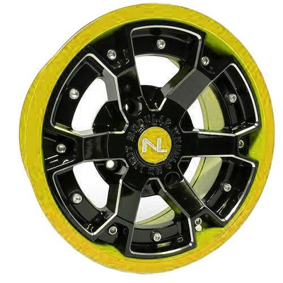No Limit 14x7 DEUCE UTV Wheels Matte Black/Yellow No Limit 3476
