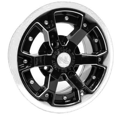 No Limit 15x7 DEUCE UTV Wheels Matte Black/White No Limit 3478