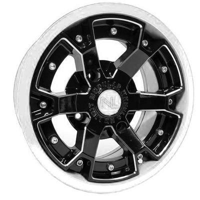 No Limit 14x7 DEUCE UTV Wheels Matte Black/White No Limit 3479