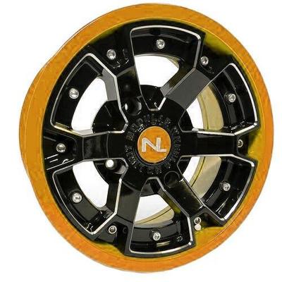 No Limit 15x7 DEUCE UTV Wheels Matte Black/Orange No Limit 3480