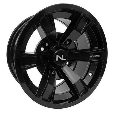 No Limit 14x7 INTIMIDATOR UTV Wheels Gloss Black/Black No Limit 3496