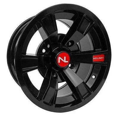 No Limit 14x7 INTIMIDATOR UTV Wheels Gloss Black/Honda Red No Limit 3497