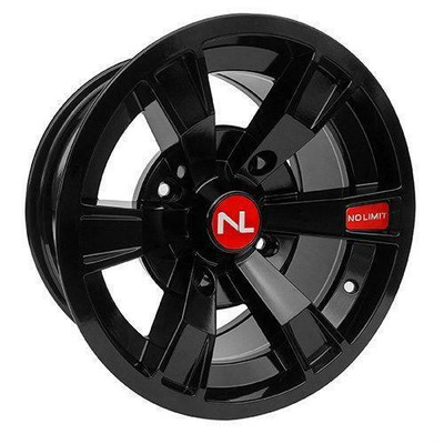No Limit 15x7 INTIMIDATOR UTV Wheels Gloss Black/Red No Limit 3500