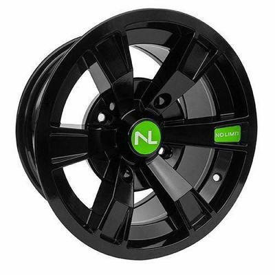 No Limit 14x7 INTIMIDATOR UTV Wheels Gloss Black/Lime Green No Limit 3501