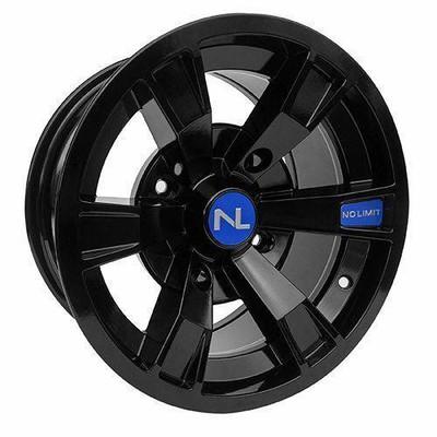 No Limit 14x7 INTIMIDATOR UTV Wheels Gloss Black/Voo Doo Blue No Limit 3503