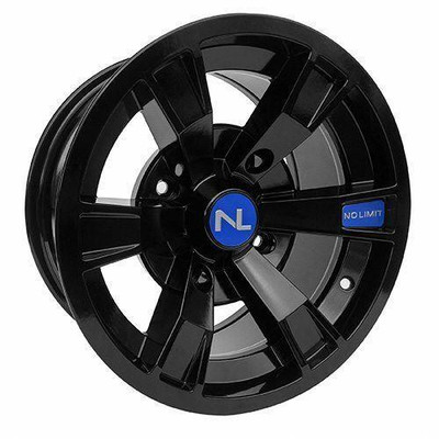 No Limit 15x7 INTIMIDATOR UTV Wheels Gloss Black/Voo Doo Blue No Limit 3504