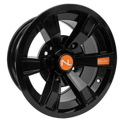No Limit 14x7 INTIMIDATOR UTV Wheels Gloss Black/Orange No Limit 3507