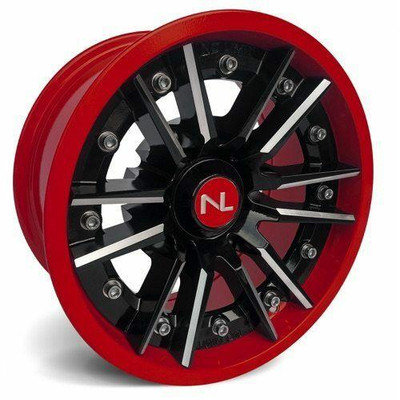 No Limit 14x7 STORM UTV Wheels Gloss Black/Honda Red No Limit 3516