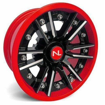 No Limit 14x7 STORM UTV Wheels Gloss Black/Red No Limit 3518