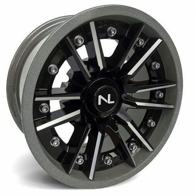 No Limit 15x7 STORM UTV Wheels Gloss Black/Silver No Limit 3519
