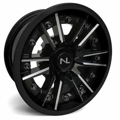 No Limit 14x7 STORM UTV Wheels Gloss Black/Matte Black No Limit 3523