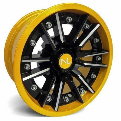 No Limit 14x7 STORM UTV Wheels Gloss Black/Yellow No Limit 3525