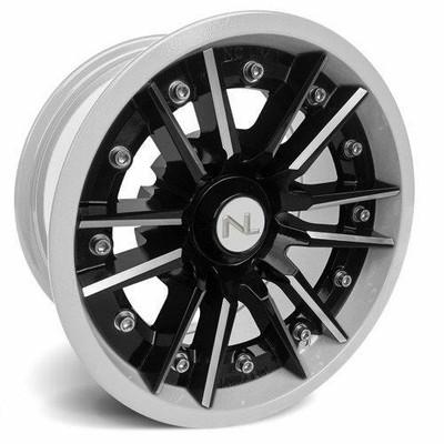 No Limit 15x7 STORM UTV Wheels Gloss Black/White No Limit 3528