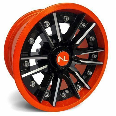 No Limit 14x7 STORM UTV Wheels Gloss Black/Orange No Limit 3529