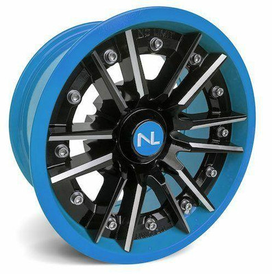 No Limit 14x7 STORM UTV Wheels Gloss Black/Can-Am Blue No Limit 3531