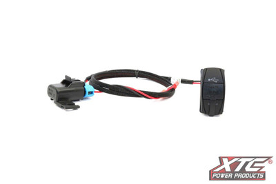 XTC RZR XP Plug and Play Dual USB Power Port DC5V 4.2A w/ Blue LED - USB Cover and Harness RZR-SW-USB-2B