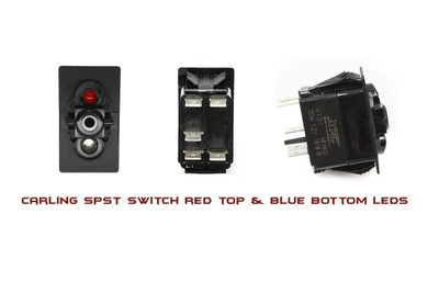 XTC Contura V SPST Red/Blue LED Switch SW11-RB000000