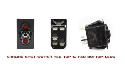 XTC Contura V SPST Red/Red LED Switch SW11-RR000000