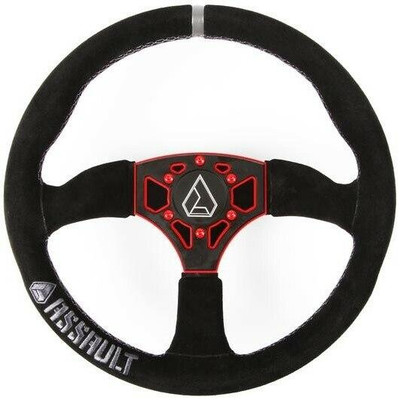 Assault Industries 350R Suede UTV Steering Wheel Red 100005SW0363