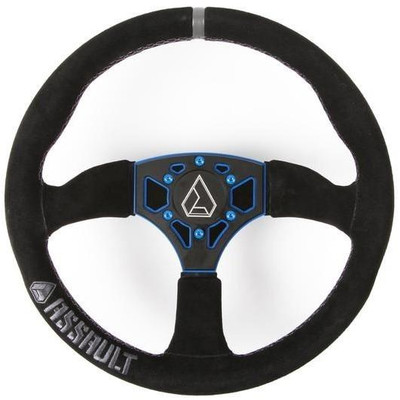 Assault Industries 350R Suede UTV Steering Wheel Blue 100005SW0362