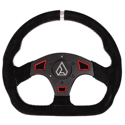 Assault Industries Ballistic D Suede UTV Steering Wheel Red 100005SW1203