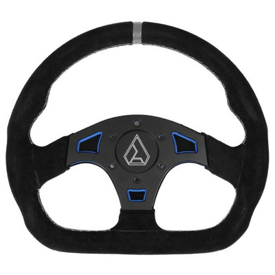 Assault Industries Ballistic D Suede UTV Steering Wheel Blue 100005SW1202