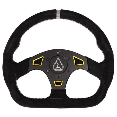 Assault Industries Ballistic D Suede UTV Steering Wheel Yellow 100005SW1205