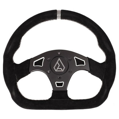 Assault Industries Ballistic D Suede UTV Steering Wheel White 100005SW1206