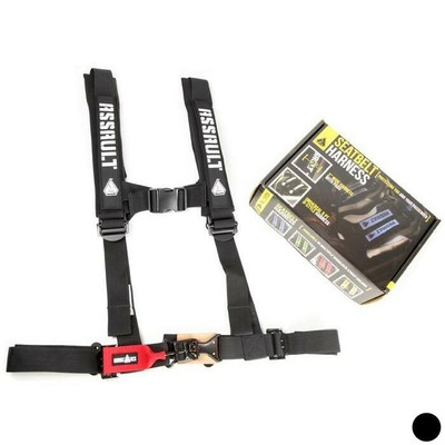 Assault Industries 2 H-Style 5 Point Racing Harnesses Black 100005SE1101