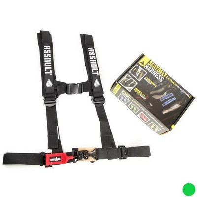 Assault Industries 2 H-Style 5 Point Racing Harnesses Green 100005SE1104
