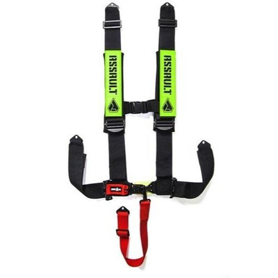 Assault Industries 3 H-Style 5 Point Racing Harnesses Green 817721021241