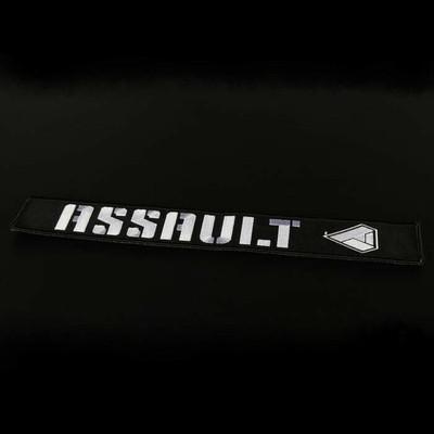 Assault Industries 2 Race Harness Velcro Strap Guards Black 100005SE1301