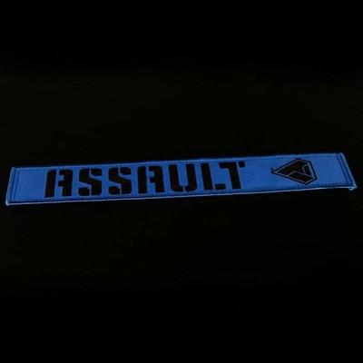 Assault Industries 2 Race Harness Velcro Strap Guards Blue 100005SE1302