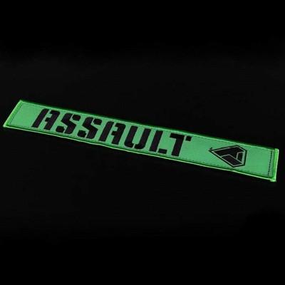 Assault Industries 2 Race Harness Velcro Strap Guards Green 100005SE1304