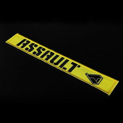 Assault Industries 2 Race Harness Velcro Strap Guards Yellow 100005SE1305