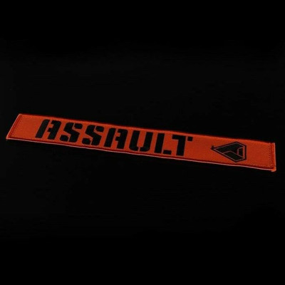 Assault Industries 2 Race Harness Velcro Strap Guards Orange 100005SE1307