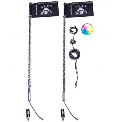5150 Whips 187 2 ft Bluetooth LED Whip Pair 187-2FTPR