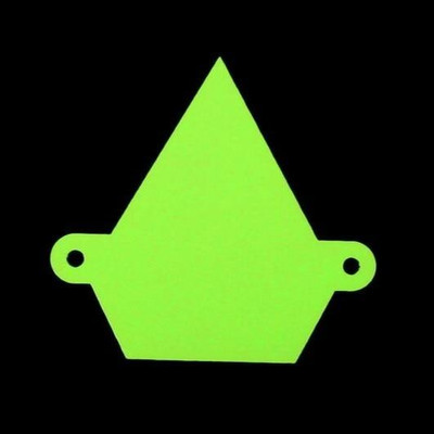 Assault Industries Colored Logo Backplate Lime 101005LG0010