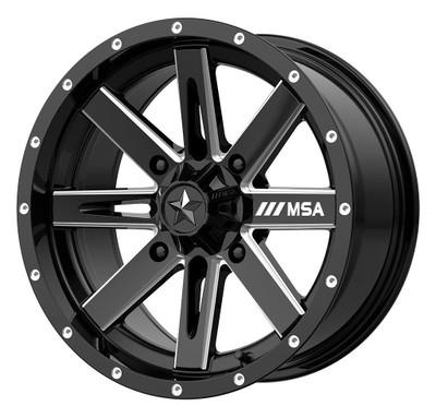 MSA M41 Boxer UTV Wheel 14X74X110 Gloss Black Milled M41-14710