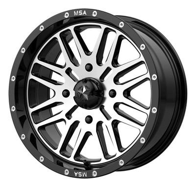 MSA M38 Brute UTV Wheel 14X7 4X110 Gloss Black Machined M38-04710