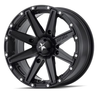 MSA M33 Clutch UTV Wheel 14X7 4X110 Satin Black M33-04710