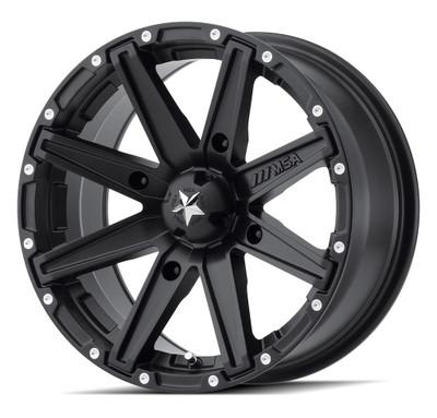 MSA M33 Clutch UTV Wheel 14X7 4X156 Satin Black M33-04756