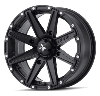MSA M33 Clutch UTV Wheel 15X7 4X156 Satin Black M33-05756