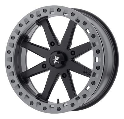 MSA M31 Lok2 UTV Wheel 15X7 4X156 Satin Black Matte Gray Ring M31-05756
